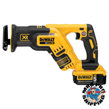 DeWalt XR Brushless Compact Reciprocating Saw Kits, 20 V, 5Ah Lithium-Ion, 1 1/8 in (1 EA/EA)