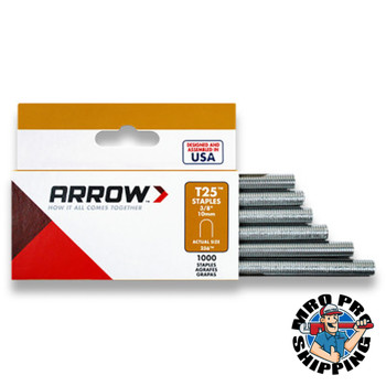 Arrow Fastener T25 Type Staples, 3/8 in (5 PK/EA)