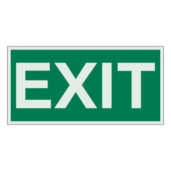 Brady Exit Signs, Green on White (1 EA/EA)