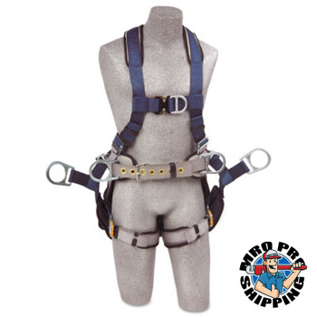 Capital Safety ExoFit Iron Worker's Harnesses, Back/Side D-Rings, 2X-Large, Tongue Buckles (1 EA/EA)