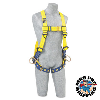 Capital Safety Delta Vest-Style Positioning Harness with Back/Side D-Rings, 3X-Large, Tongue (1 EA/EA)
