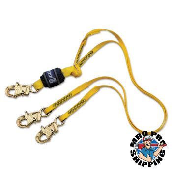 Capital Safety EZ-Stop 100 Tie-Off Shock Absorbing Lanyards, 6 ft, Snap Hook, 310 lb (1 EA/EA)