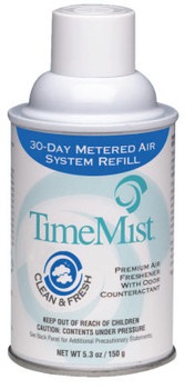 TimeMist Premium Metered Air Freshener Refill, Green Apple 5.3 oz, Aerosol (12 CA/EA)