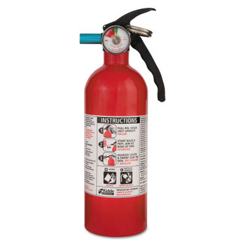 Kidde Automobile Fire Extinguishers, Class B and C Fires, 2 lb Cap. Wt. (1 EA/EA)