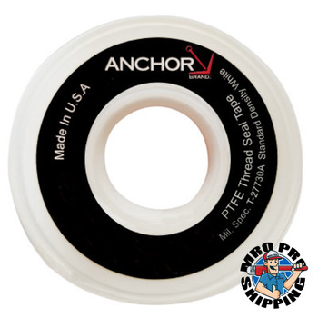 Anchor Products White Thread Sealant Tapes, 1/4 in x 1,296 in (1 RL/EA)