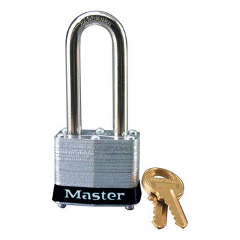 Master Lock Laminated Steel Safety Padlocks, 9/32 in D, 2 in L x 5/8 in W, Black (6 EA/PAL)