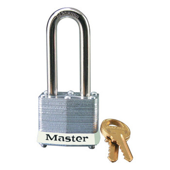 Master Lock Laminated Steel Safety Padlocks, 9/32 in D, 2 in L x 5/8 in W, White (6 EA/PK)