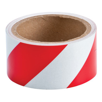 Brady Reflective Striped Tapes, 2 in x 10 yd, Red/White (1 EA/EA)