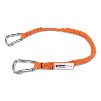 Stanley Products Elastic Lanyard With 2 Stainless Steel Carabiners, 52 in, Hook, 15 lb Load Cap (10 EA/EA)
