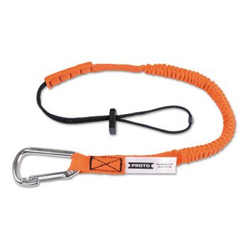 Stanley Products Elastic Lanyard With Stainless Steel Carabiners, 48 in, Hook, 15 lb Load Cap (1 EA/EA)
