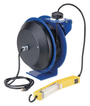 Coxreels PC13 Series Power Cord Reels, 12/3 AWG, 20 A, 50 ft, Single Industrial Plug (1 EA)