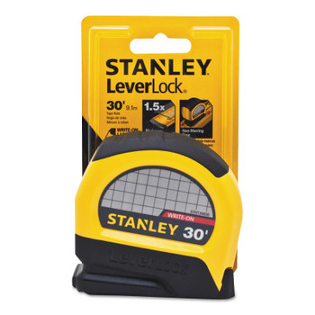 Stanley Products LeverLock Tape Measures, 1 in x 30 ft, Inch (4 EA/EA)