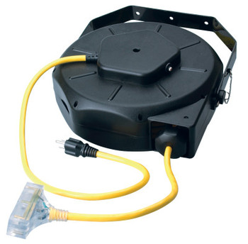 CCI Luma-Site Cord Reels with Lighted Tri Source, 50 ft, 3 Outlets (1 EA)