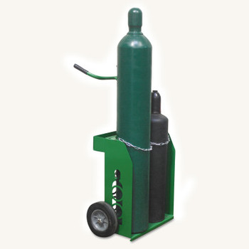 Saf-T-Cart Small and Medium Cylinder Carts, Holds 9 1/2 in Cylinder (1 EA/CT)