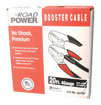 CCI Booster Cables, 4/1 AWG, 20 ft, Black (1 EA)