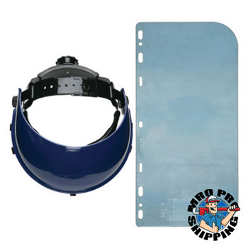 MCR Safety Ratchet Headgear, 8in x 15in, Polycarbonate (16 BX/CA)