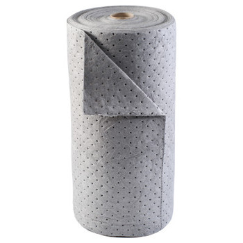 Brady BASIC Absorbent Rolls, Absorbs 38 gal, 30 in x 150 ft, Gray (1 RL/CT)
