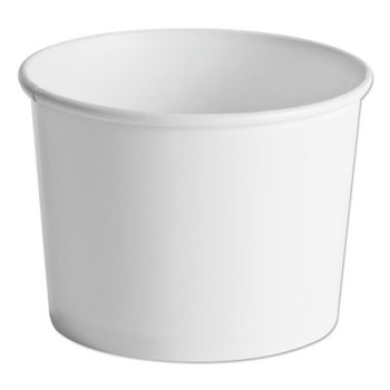 Huhtamaki Paper Food Containers, 64oz, White, 25/Pack (250 CT/CT)