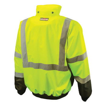 Radians SJ110B Two-in-One High Visibility Bomber Safety Jackets, 2XL, Polyester, Green (1 EA/PAL)