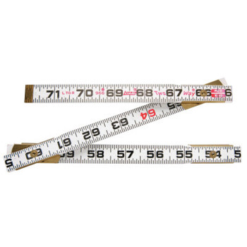 Apex Tool Group Red End Two Way Rulers, 6 ft, Wood (1 EA)