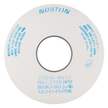 Norton Toolroom Wheels, Type 5, 14 in Dia. 1 1/2 in Thick, 5 in Arbor, 46 Grit, I Grade (1 EA/EA)