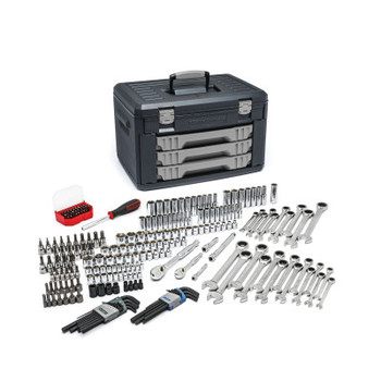 Apex Tool Group Mechanics Tool Set in 3 Drawer Storage Boxes, 232 Pc. (1 ST/EA)