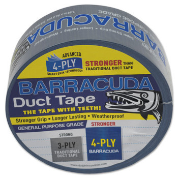 Linzer Barracuda Duct Tapes, 1.88 in x 54.6 yd x 5.5 mil, Blue/Silver (24 PK/EA)