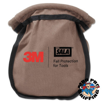Capital Safety Small Parts Pouches, Carabiner, Tan/Black (1 EA/EA)