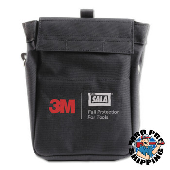 Capital Safety Tool Pouch with D-rings, 7.5 x 5 x 11, Canvas, Black (1 EA/EA)