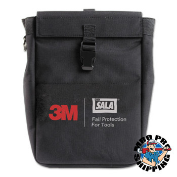 Capital Safety Extra Deep Tool Pouch with D-rings, 8.75 x 5 x 13, Canvas, Black (1 EA/EA)