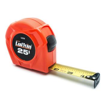 Apex Tool Group Hi-Viz Power Return Tape Measures, 25 ft, SAE, A5, Hi-Viz Orange (1 EA/EA)