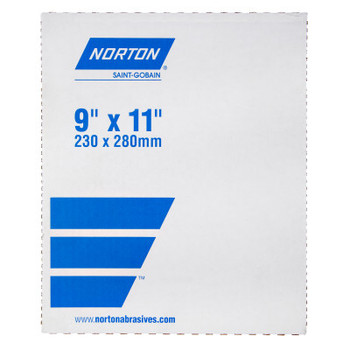 Norton Fine Grit Cloth Sheets, Aluminum Oxide, Cloth, 180 Grit, 9 x 11 (50 BX/EA)
