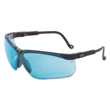 Honeywell Genesis Eyewear, Blue Lens, Polycarbonate, Ultra-dura/Uvextreme AF, Black Frame (1 EA/CA)