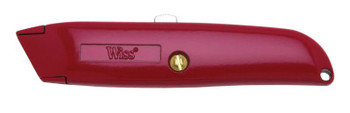 Apex Tool Group Retractable Utility Knives, 6 in, Heavy Duty Steel Blade, Steel, Red (1 EA)