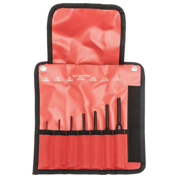 Apex Tool Group Roll Pin Punch Sets, Pin, English, 2 3/4 in - 5 1/2 in (1 ST/CA)