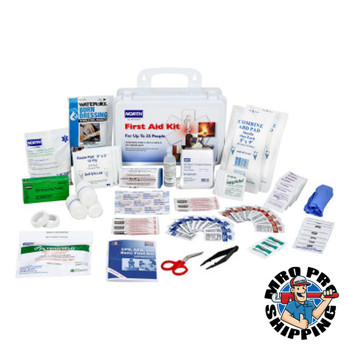 Honeywell 25 Person First Aid Kits, Plastic, Wall Mount (1 EA/CA)