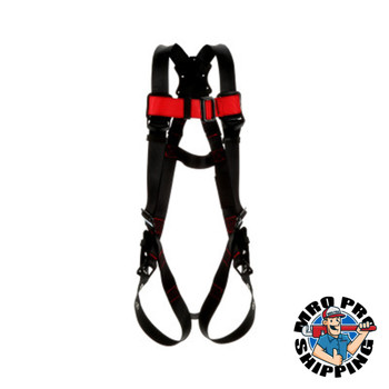 Capital Safety Vest Style Harnesses, D-Ring, Medium/Large, Tongue Buckle, Vest Style (1 EA/CS)