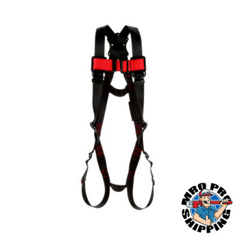 Capital Safety Protecta Vest-Style Harnesses, Back D-Ring, 2X-Large, Quick Connect Buckles (1 EA/KT)