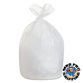 Boardwalk High-Density Can Liner, 38x58, 60gal, 19 Mic Equiv., Natural, 25 Bags/Roll (1 CA/CA)