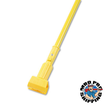 Boardwalk Plastic Jaws Mop Handle for 5 in Wide Mop Heads, 60 in Aluminum Handle, Yellow (1 EA/CA)