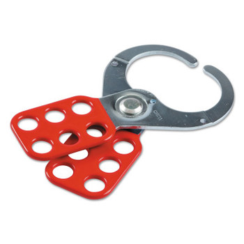 Brady Lockout Safety Hasps, 0. 4in Dia. Shackle, 2.25w x 0.35d x 4.5h, Red (1 EA/CA)