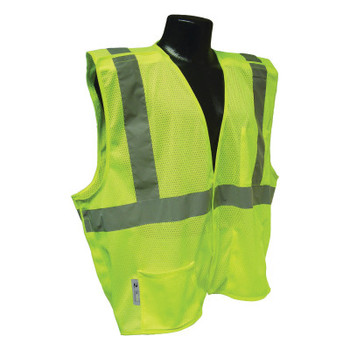 Radians SV4 Economy Type R Class 2 Breakaway Safety Vests, Large, Hi-Viz Green (1 EA/RL)