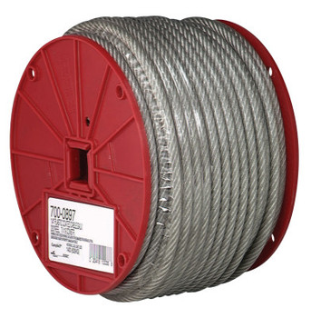 """Apex Tool Group 3/32""""-7X7-COATED CABLE REEL 250' (250 FT)"""