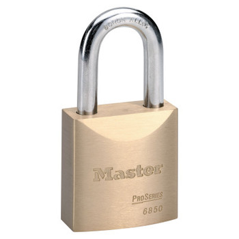 Master Lock ProSeries Solid Brass Rekeyable Pin Tumbler Padlocks, 3/8 in, Brass (1 EA/EA)