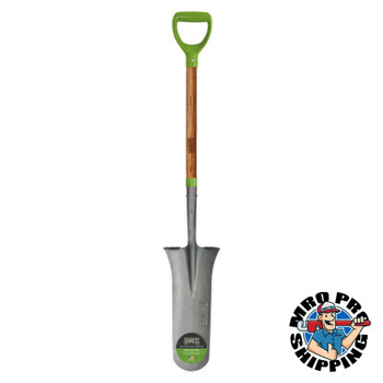 The AMES Companies, Inc. Wood Handle Drain Spades, 16 in x 7 1/2 in Round Point Blade (6 BD/EA)