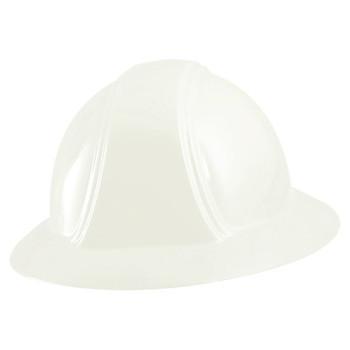OccuNomix Full Brim Hard Hats, Ratchet Suspension, White (1 EA/CA)