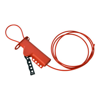 """Brady All Purpose Lockouts with Sheathed Metal Cables, 0.281"""" Dia. Shackle, 8 ft Cable (1 EA/EA)"""