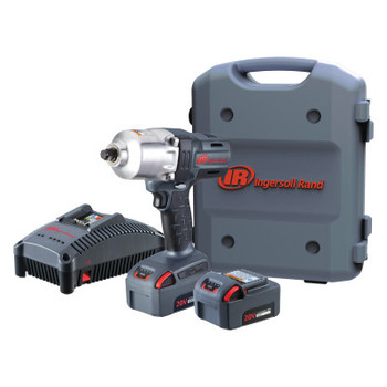 Ingersoll Rand 20V High-Torque Impact Wrench Kits, 1/2 in, 1,900 rpm (1 EA/EA)