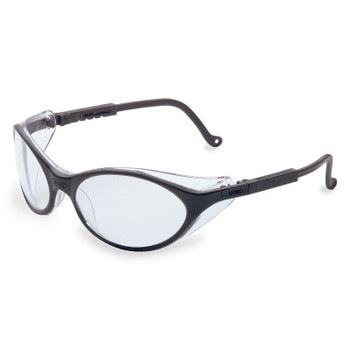 Honeywell Bandit Safety Eyewear, Clear Lens, Ultra-dura, Black Frame (1 EA/EA)