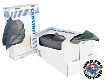 Boardwalk Waste Can Liners, 40-45 gal, 40 x 46, 0.6mil, White, 25/Roll (1 CT/EA)
